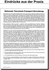 Tierschutztransport-verordnung